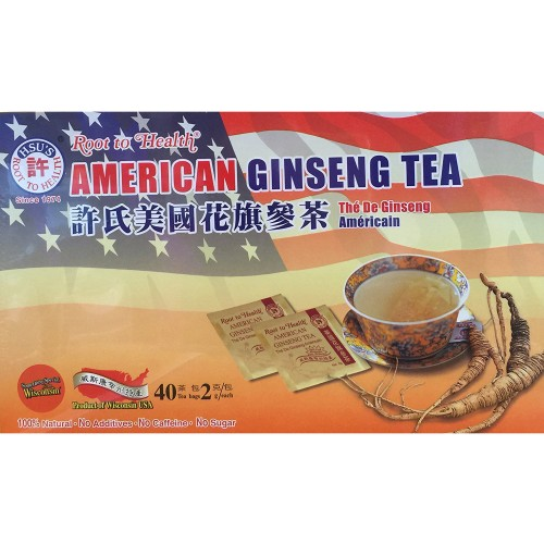 Hsu's Ginseng Tea 40 Teabag / Box