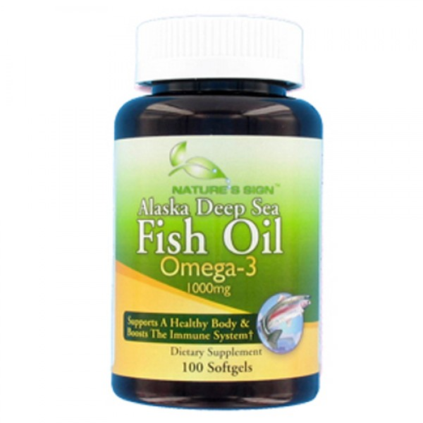Nature 39 s sign alaska deep sea fish oil omega 3 100 for Alaska deep sea fish oil