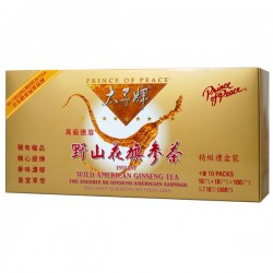 Prince of Peace Wild American Ginseng Instant Tea 100 Sachets